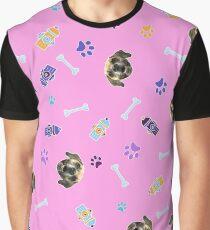 Dog, food, fire hydrant, bone II Graphic T-Shirt