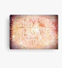 Love You - Valentine Metal Print