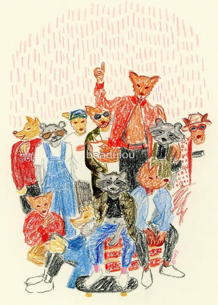 Skater Foxy Family by beadylou