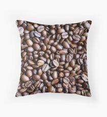 Coffee beans grains fresh Throw Pillow