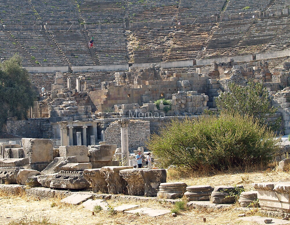 The Bottom of the Ephesus Theater by Memaa