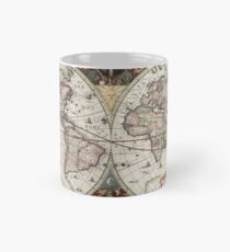 Vintage Maps Of The World. Geographic and Hydrographic Map of the Whole World Mug