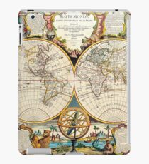 Vintage Maps Of The World 1755 iPad Case/Skin