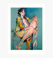 Girl in a Golden Gown Art Print