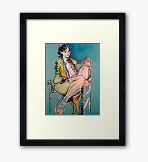 Girl in a Golden Gown Framed Print