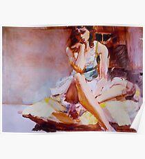 Lavinia on a Cushion Poster