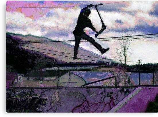 Deck Grab Champion - Stunt Scooter Art by Skye Ryan-Evans