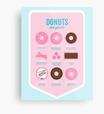 Donuts are life Metal Print