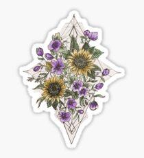 Geometrische Sonnenblume-Muster Sticker