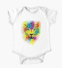 POP Tiger - Colorful Paint Splatters and Drips Kids Clothes