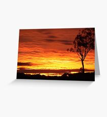 Sunrise Over the Property Greeting Card