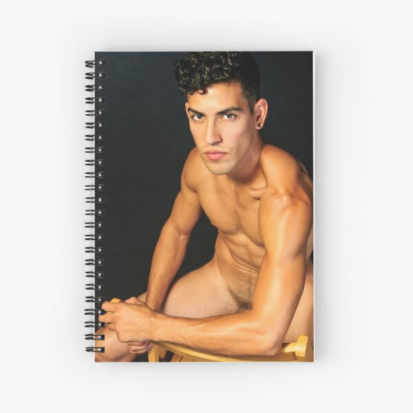 Simple Male Beauty Spiral Notebook