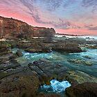 Caves Beach NSW Pano by Ian English
