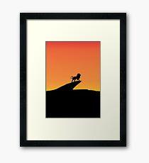 The King Lion Framed Print