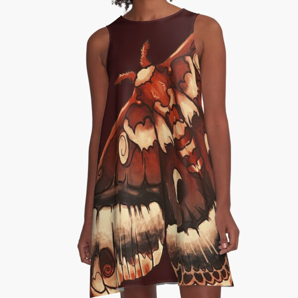 Cecropia Moth A-Line Dress