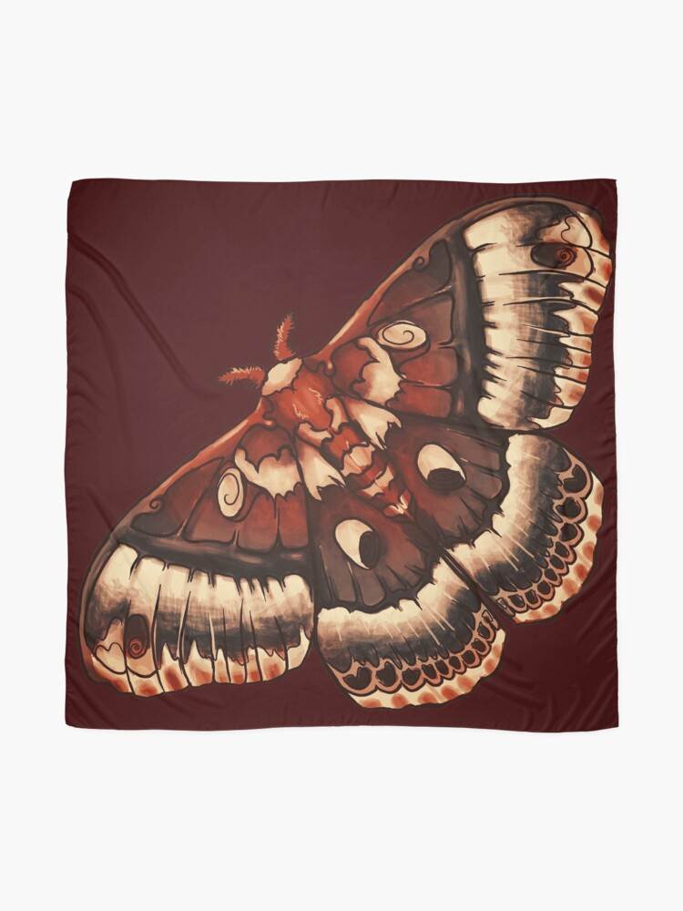 Alternate view of Cecropia Moth Scarf