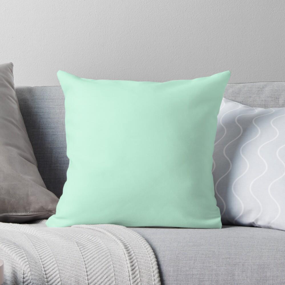 PLAIN AERO BLUE WITH GREEN UNDERTONES Throw Pillow
