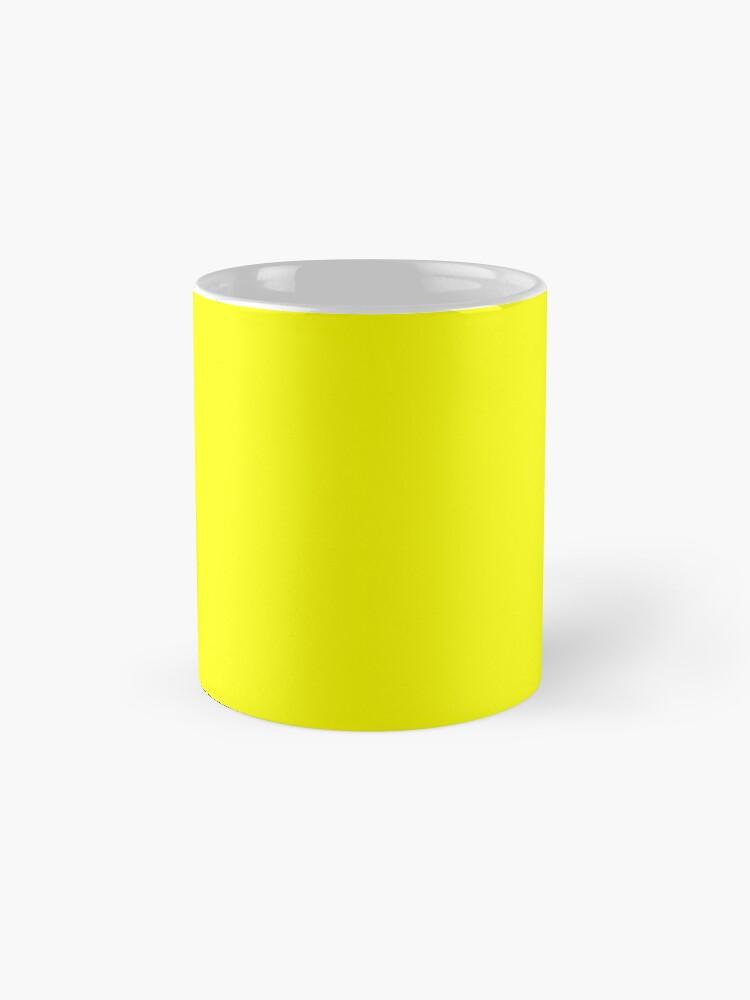 Alternate view of Neon fluorescent Yellow | Yellow|neon Yellow/Fluro Yellow Mug