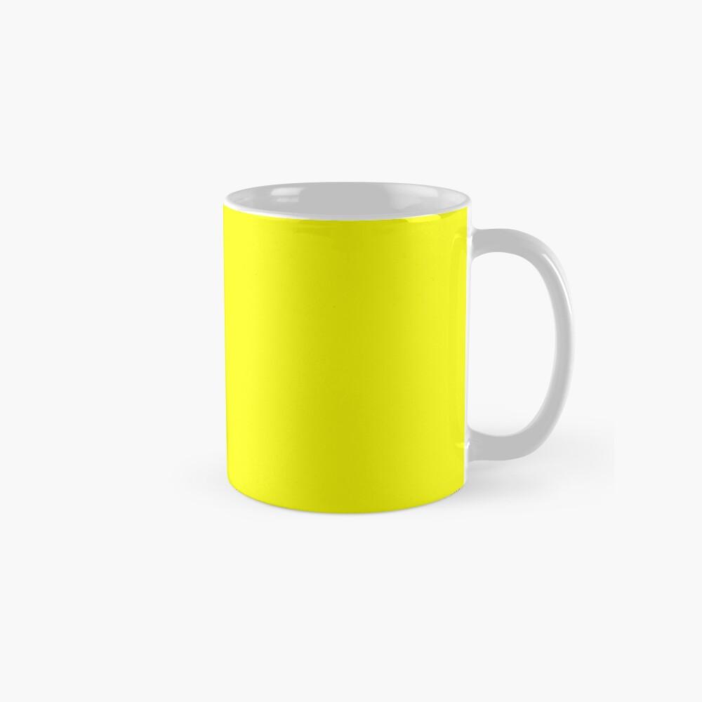 Neon fluorescent Yellow | Yellow|neon Yellow/Fluro Yellow Mug