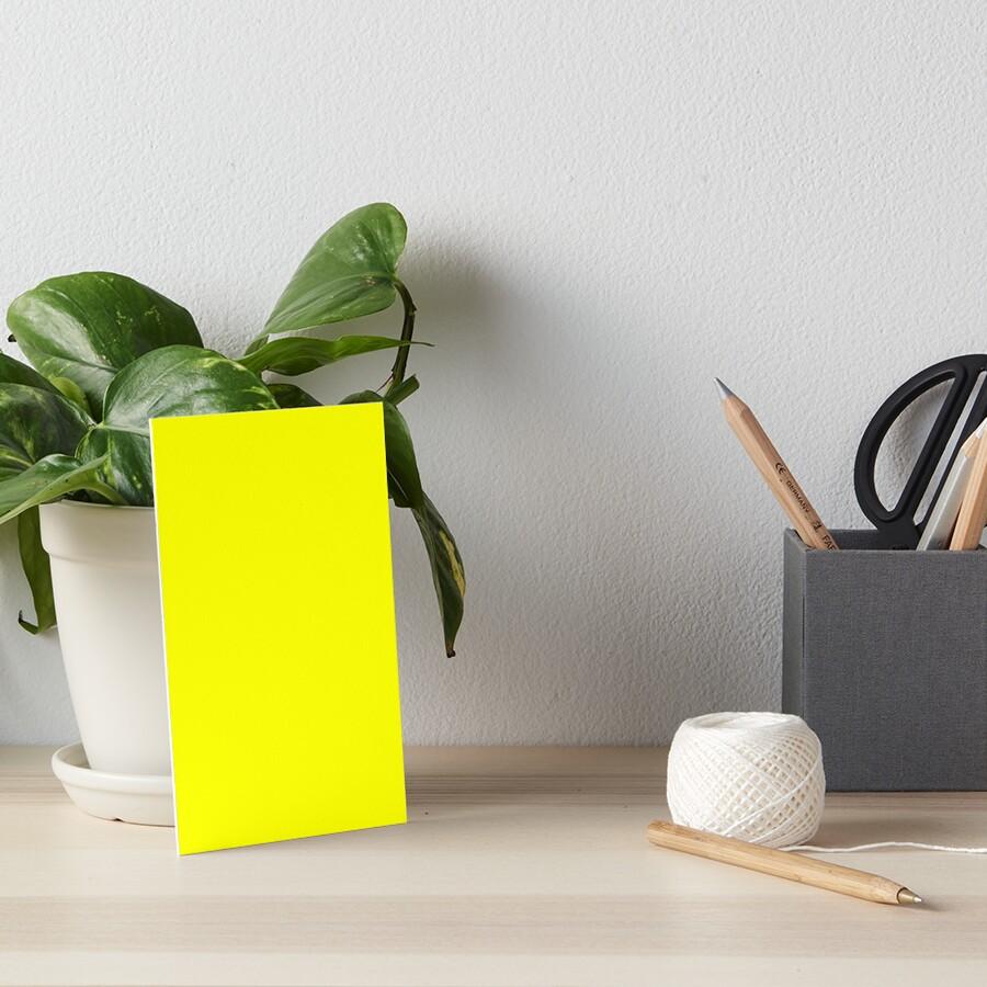Neon fluorescent Yellow | Yellow|neon Yellow/Fluro Yellow Art Board Print