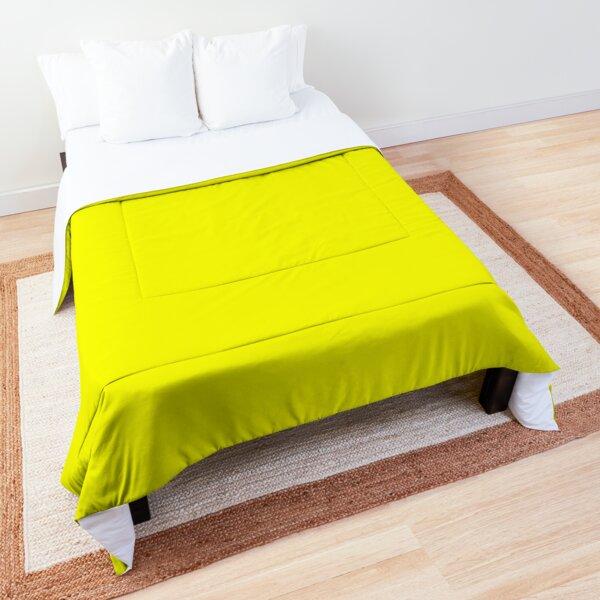 Neon fluorescent Yellow | Yellow|neon Yellow/Fluro Yellow Comforter