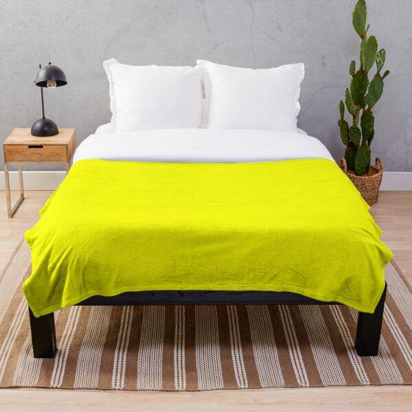 Neon fluorescent Yellow | Yellow|neon Yellow/Fluro Yellow Throw Blanket