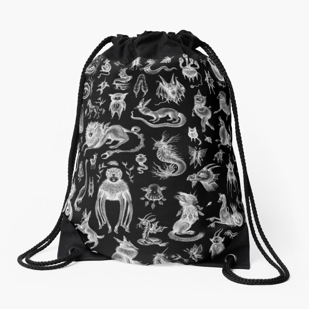 We Are Not Alone - inverted Drawstring Bag