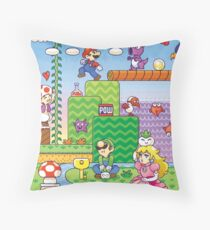 Nintendo - Mario 2 Throw Pillow