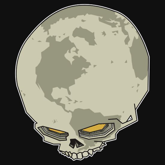 TShirtGifter presents: planet skull