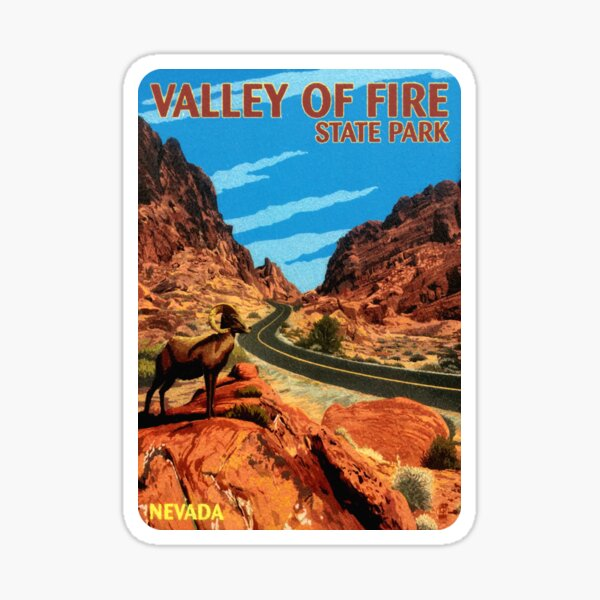 Valley of Fire State Park Nevada Vintage Travel Decal Sticker