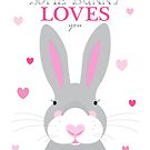 Some bunny loves you by creativemonsoon