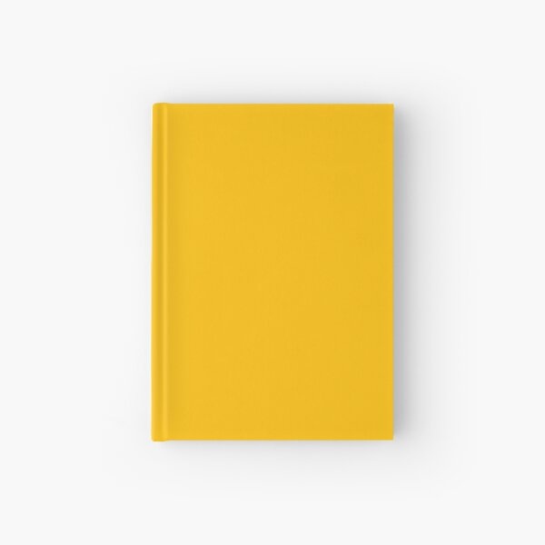 PLAIN SOLID YELLOW - AMBER YELLOW  - BY OZCUSHIONS  Hardcover Journal