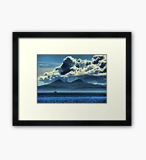 Storm brewing over Jura Framed Print