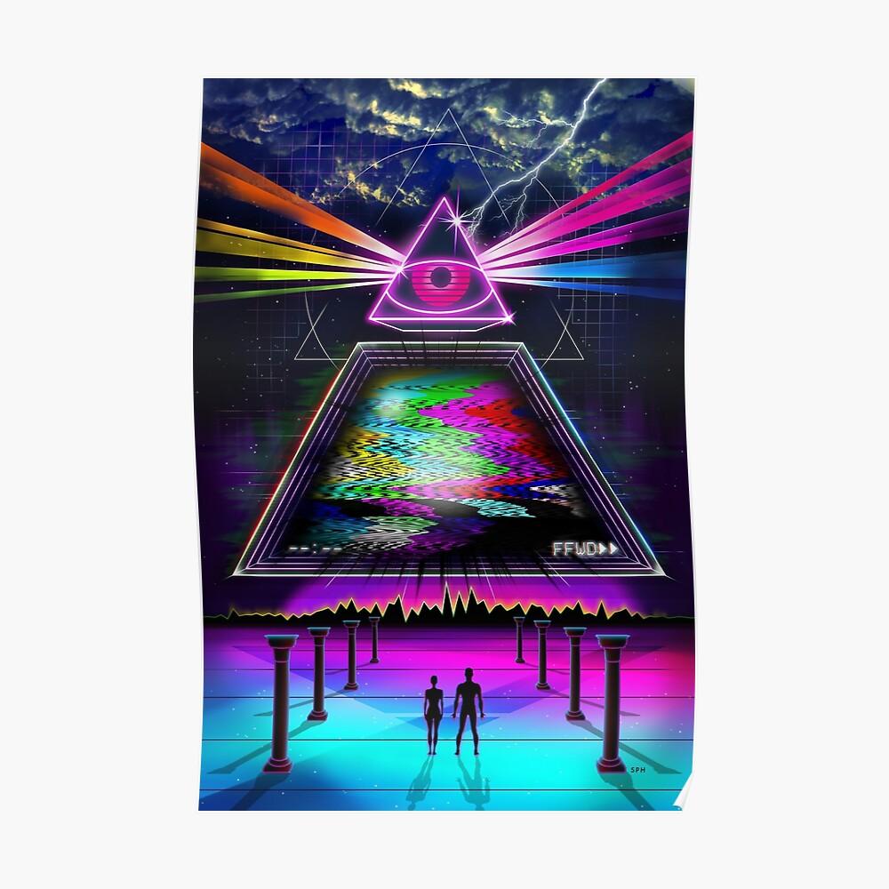 Statische Intelligenz - VHS 80s Retro Glitch Poster