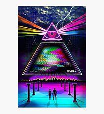 Static Intelligence - VHS 80s Retro Glitch Photographic Print