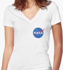 NASA tees Women's Fitted V-Neck T-Shirt
