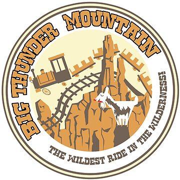 Big Thunder Mountain (rust and yellow) by clockworkmonkey