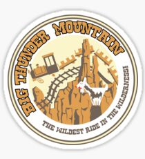 Big Thunder Mountain (rust and yellow) Sticker