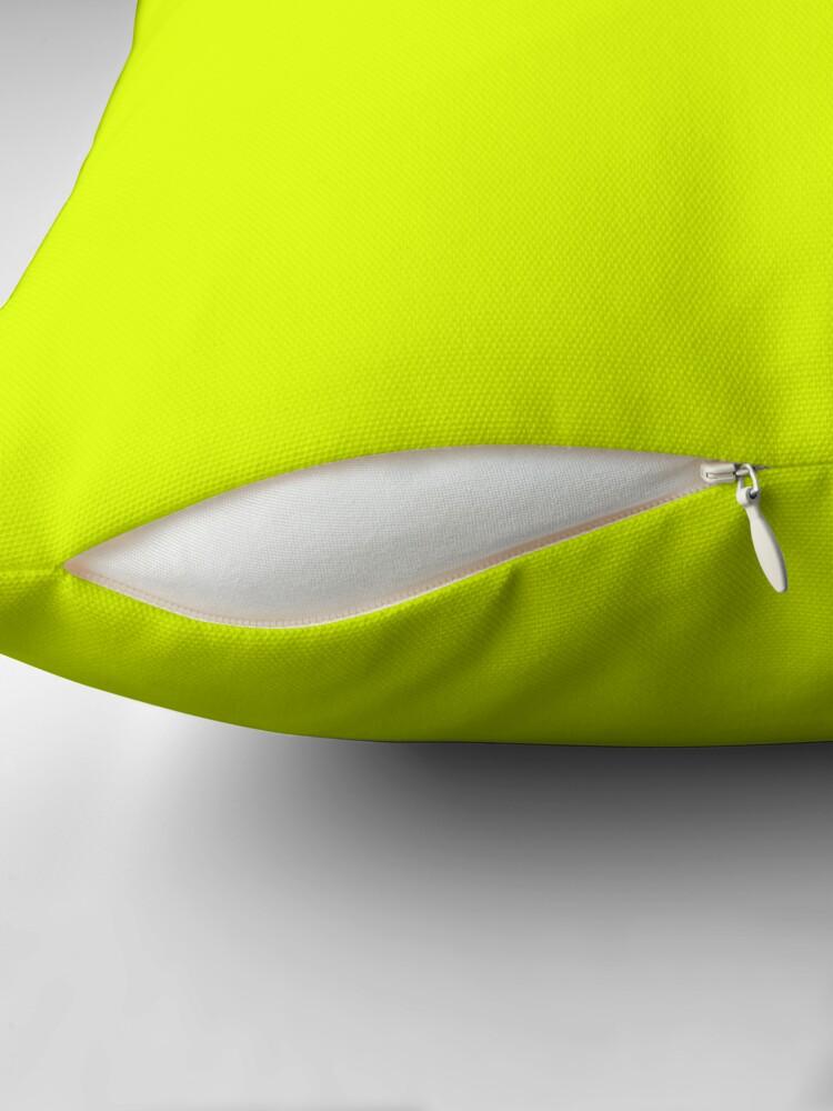 Alternative Ansicht von Schöne Kissen / Plain Chartreuse Yellower Dekokissen