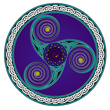Celtic Triskell (blue and purple)  by potty