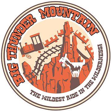 Big Thunder Mountain (orange and yellow) by clockworkmonkey