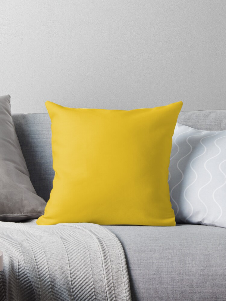 Solid Colour | Deep Lemon | Yellow by ozcushions