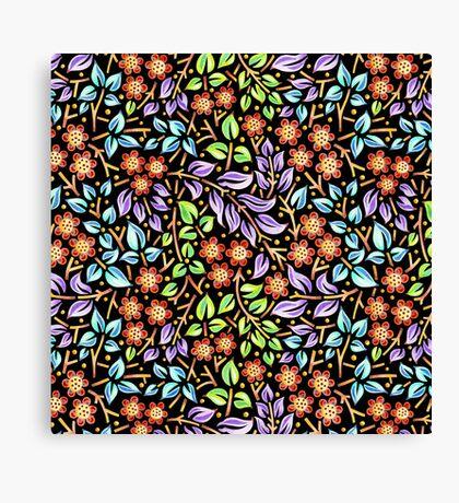 Filigree Floral - smaller scale Canvas Print