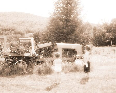 rustic tractor by JessieMac