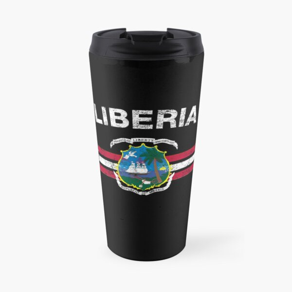 Liberian Flag Shirt - Liberian Emblem & Liberia Flag Shirt Travel Mug