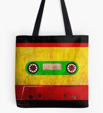 Reggae Flag Cassette Tape - Cool Grunge Reggae Music Design Tote Bag