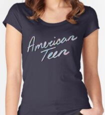 AMERICAN TEEN IRIDESCENT Women's Fitted Scoop T-Shirt