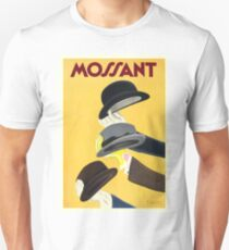 1938 Mossant French Hats Advertising Poster T-Shirt