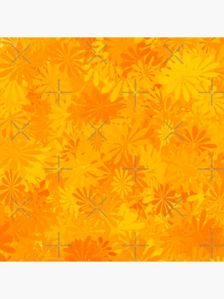 GOLDEN FLORAL MORNING SUN PATTERN  BY OZCUSHIONSTOO by ozcushionstoo