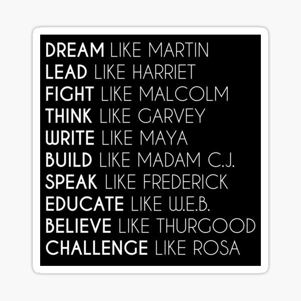 Dream Like Martin Sticker